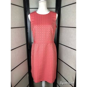 Boden Red Circle Embroidered Dress Size 10